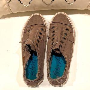 Blowfish Brown Distressed Malibu Patchwork Sneakers 7.5